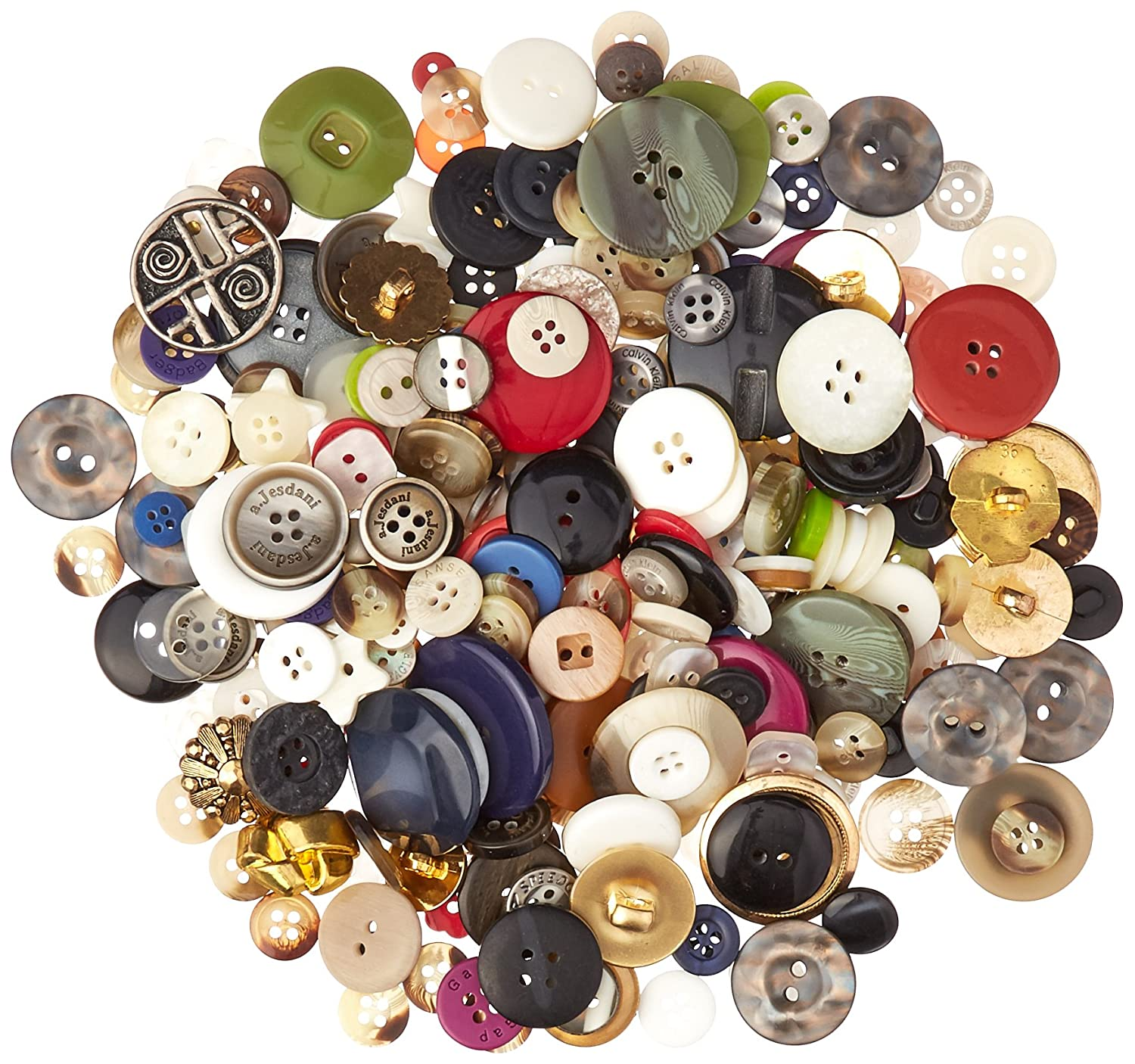 Assorted Color School Specialty Craft Button Assortment 247228 1 lb Assorted Size