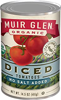 product image for Muir Glen, Organic Diced No Salt Added Tomatoes, 14.5 oz