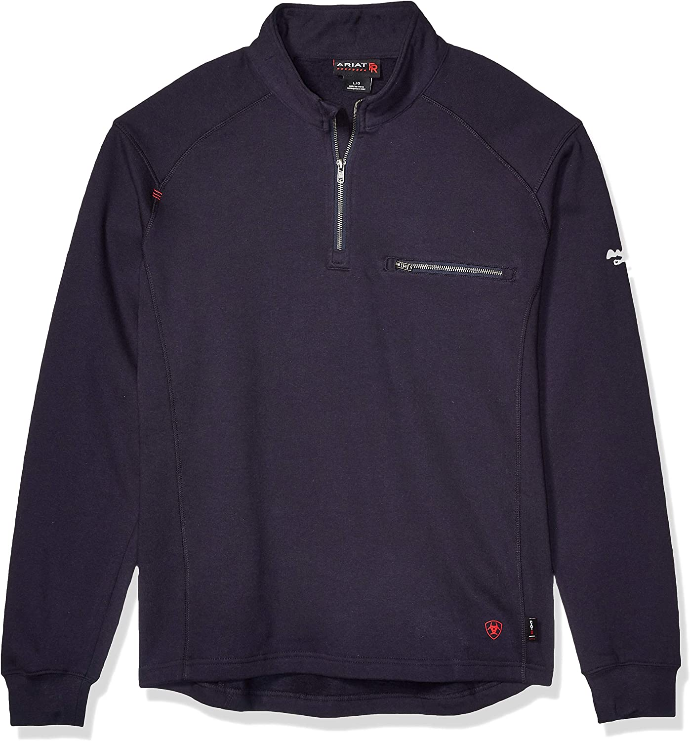 Ariat Men's Big and Tall Flame Resistant Rev 1/4 ZipShirt: Clothing