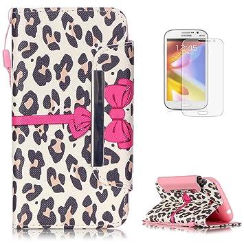 KaseHom Compatible with Case Samsung Galaxy Grand Neo Plus i9060 Wallet Funda Carcasa Libro PU Choque Absorción Leather Flip Case Cover Fuerte Cierre ...