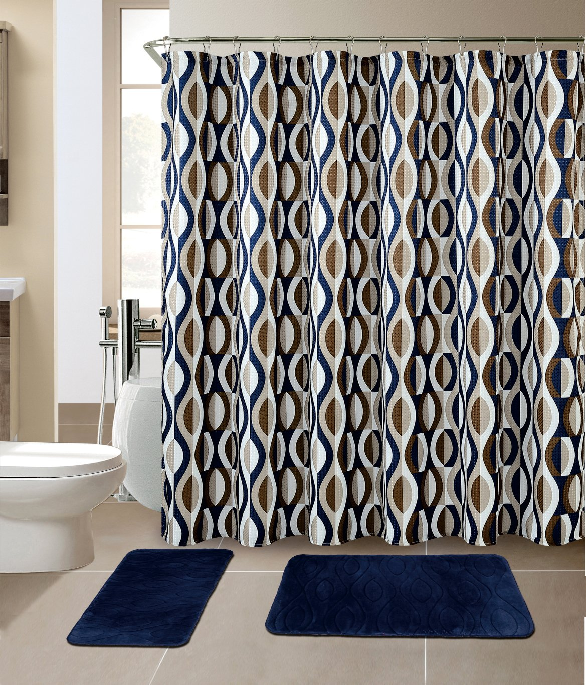 Curtain pattern matching curtain menzilperde net for Matching bedroom and bathroom sets