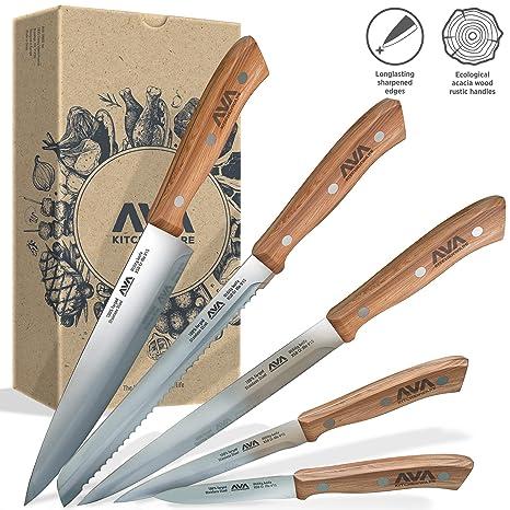 Amazon.com: Juego de cuchillos de cocina de 5 piezas con ...