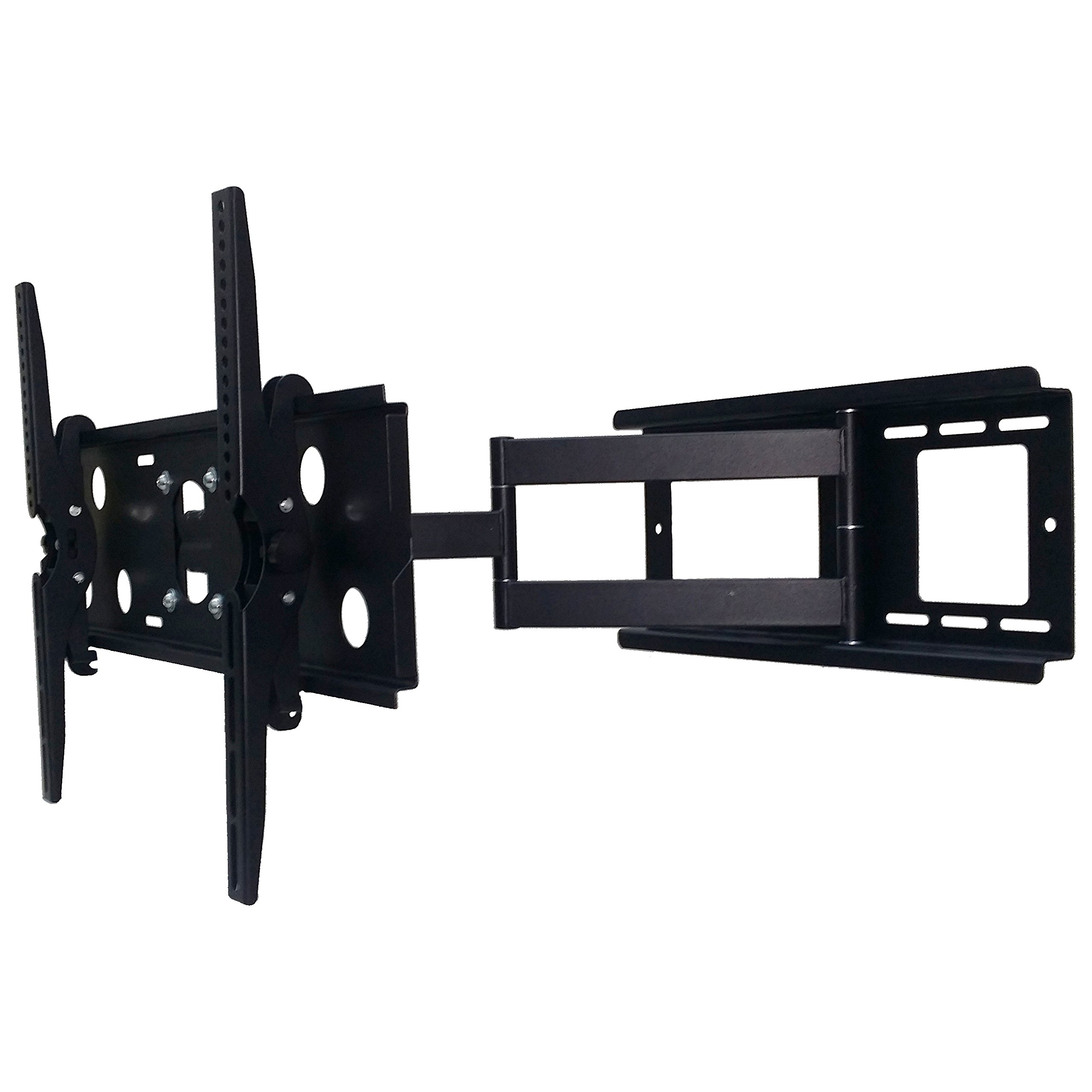 2xhome – NEW TV Wall Mount Bracket (Single Arm) Secure Cantilever LED LCD Plasma Smart 3D WiFi Flat Panel Screen Monitor Moniter Display Large Displays - Long Swing Out Single Arm Extending Extendible Adjusting Adjustable - Full Motion 15 degree degrees