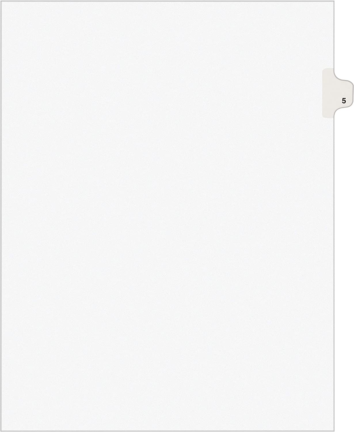 Avery Individual Legal Exhibit Dividers, Avery Style, 5, Side Tab, 8.5 x 11 inches, Pack of 25 (11915), White : Binder Index Dividers : Office Products