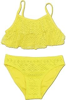 e7713cfcb2 SHEKINI Été 2 pièces Mailots de Bain 1 Réglez Enfant Les Filles Bikini  Halter Tankini Plage