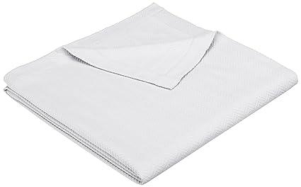 Pinzón firma toallas – Manta (algodón egipcio, Full/Queen, blanco