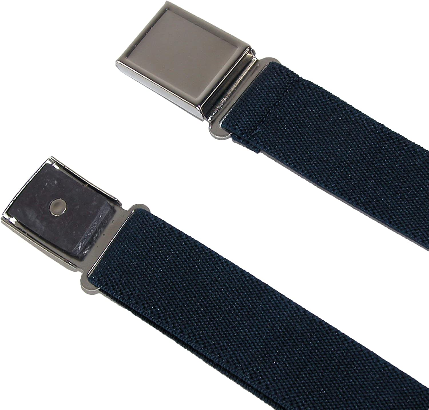 Pack of 3 Colors CTM Kids Adjustable Elastic Belt with Magnetic Buckle