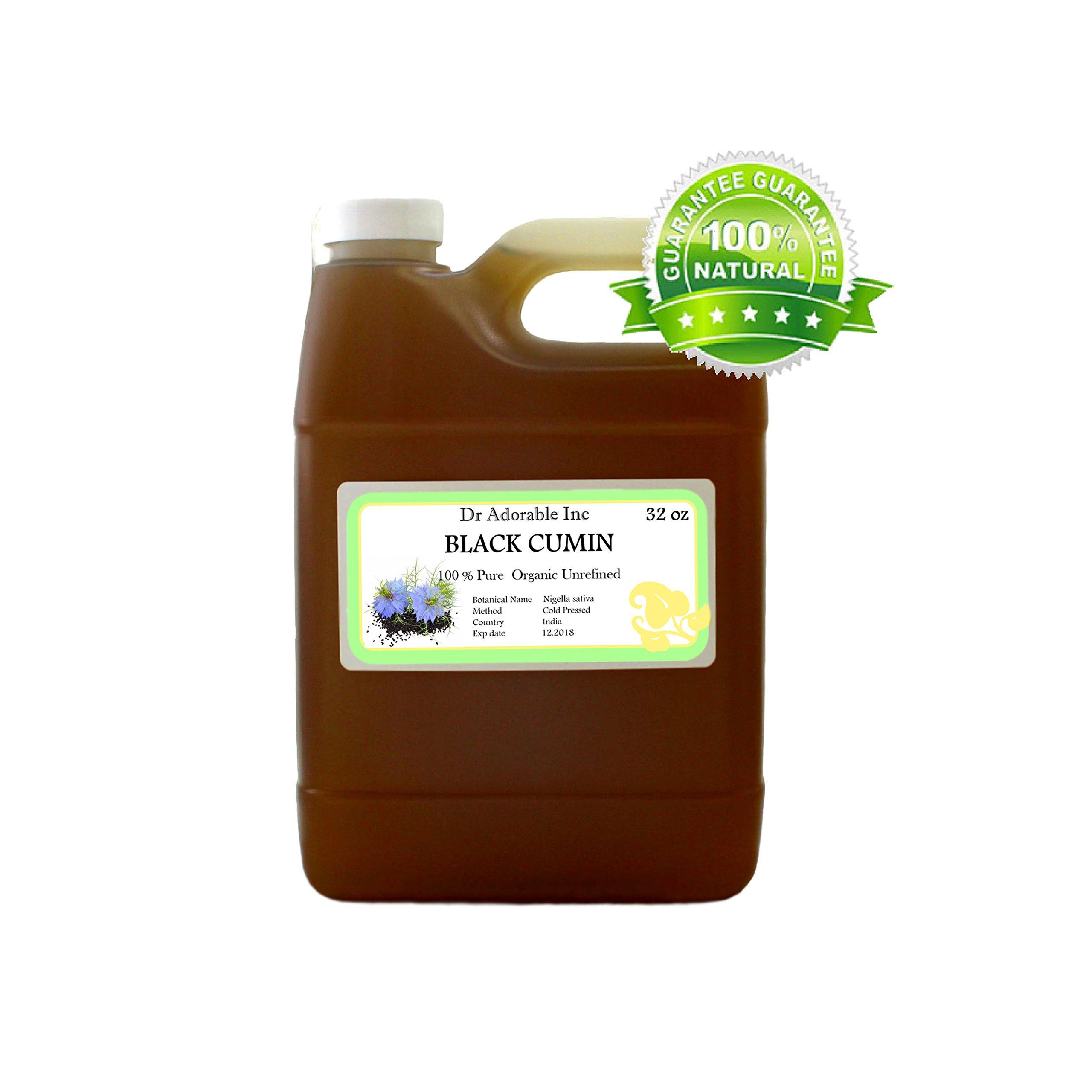 32 Oz/1 Quart Premium Black Cumin Seed (India) Oil Organic Cold Pressed 100% Pure by Dr. Adorable inc (Image #1)