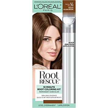Amazon.com: L\'Oréal Paris Root Rescue Hair Color, 5G Medium Golden ...