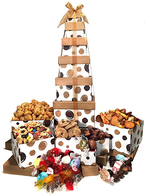 Christmas Gift Basket Box Tower