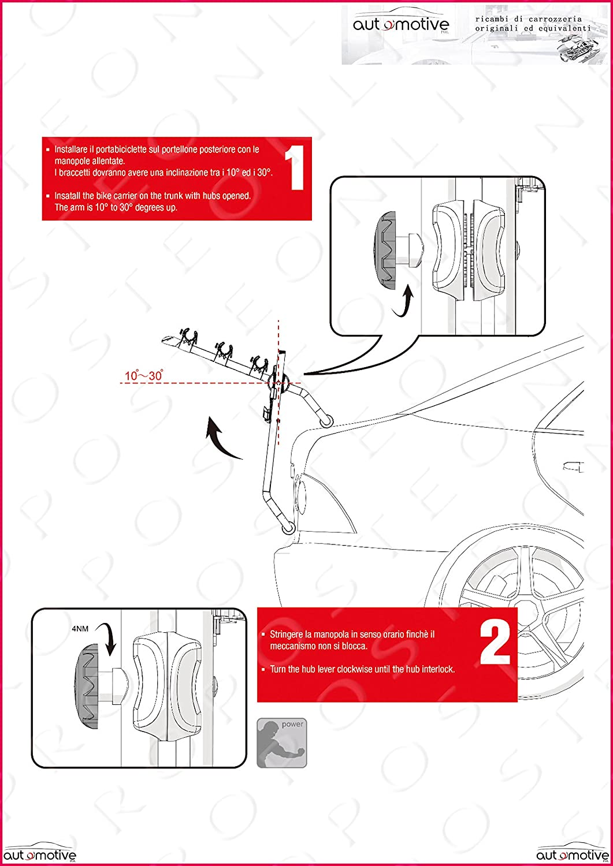 Proposteonline Portabici Posteriore 3 Bici Omologato Compatibile con KIA SPORTAGE 5 Porte dal 2010 al 2015 005022