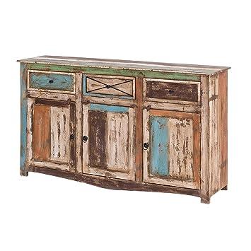 Mobel Ideal Sideboard Vintage Holz Bunt Massiv Bemalt Lackiert