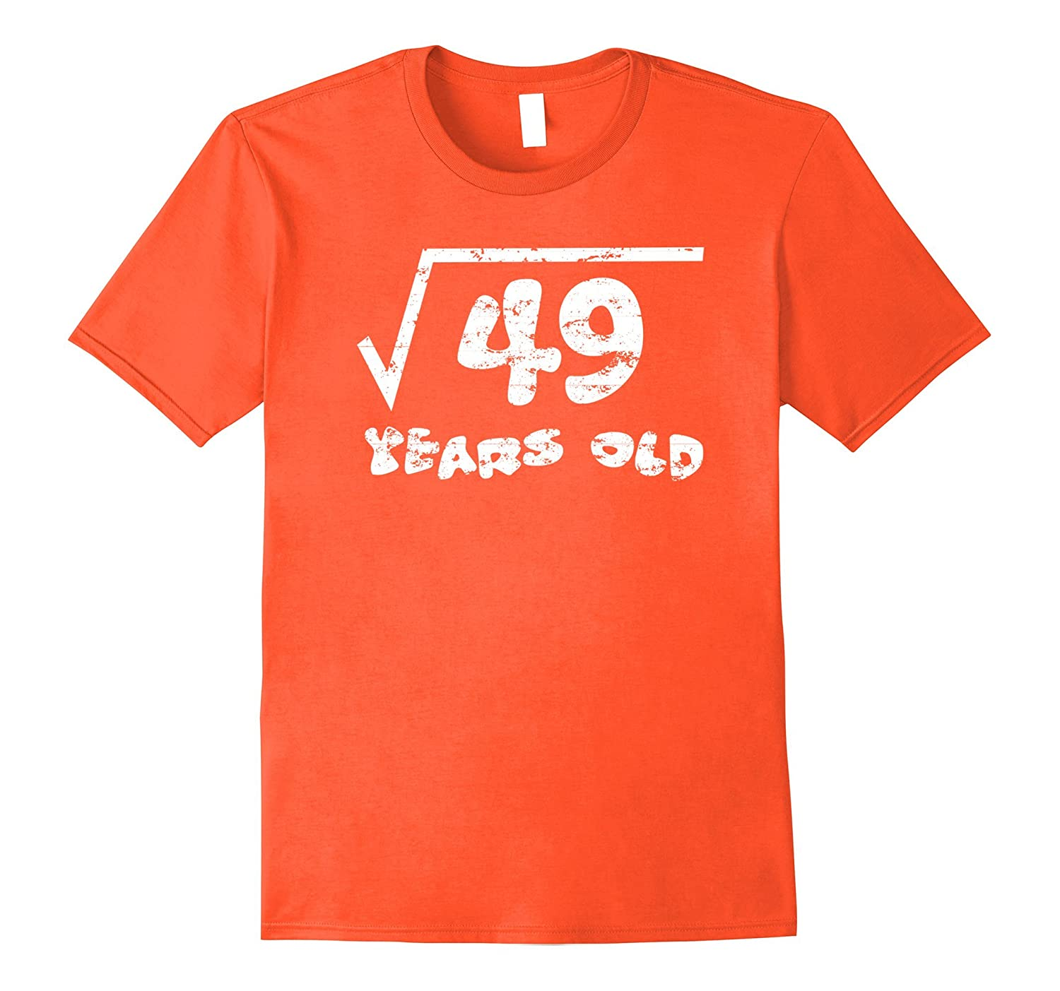 7th Birthday Kids Square Root Of 49 Math 7 Years Old T Shirt Pl Polozatee