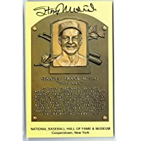 $85 » Stan Musial Signed HOF Plaque Postcard Cardinals Auto COA - MLB Cut Signatures