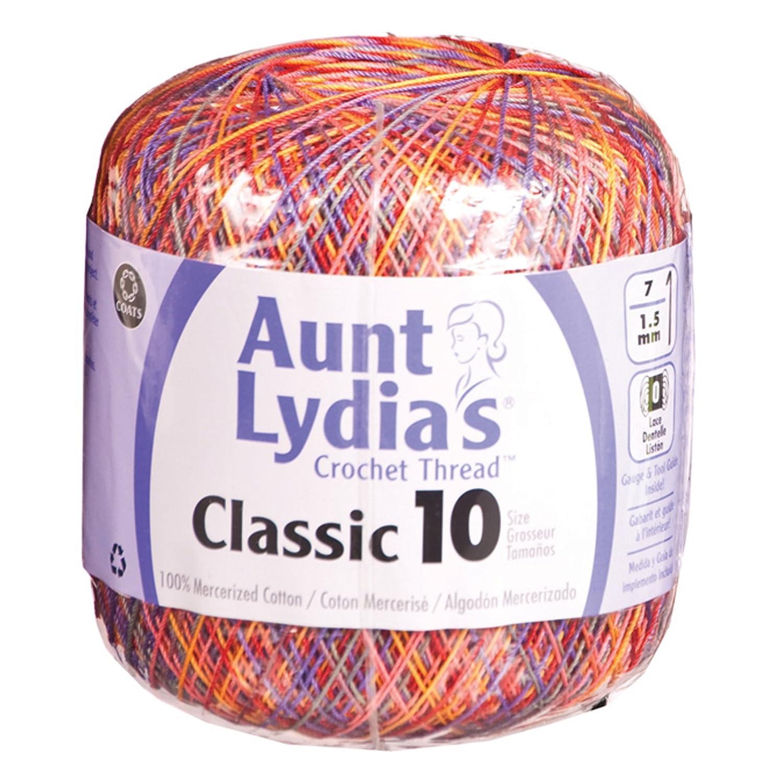 Aunt Lydia'S Classic Crochet Thread Size 10-Passionata Aunt Lydia' S