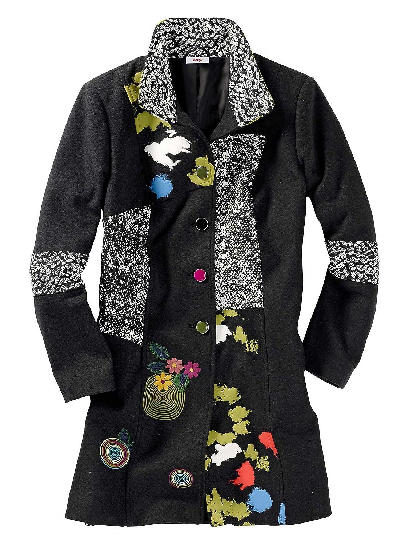 sheego Trend Damen Mantel multicolor 42/XL