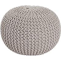 MAB Pouf Confortable tricoté à la Main pour Salon Moderne 55 cm