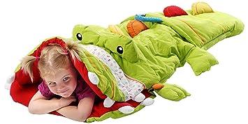 Lilliputiens 86113 - Saco de dormir, diseño de cocodrilo