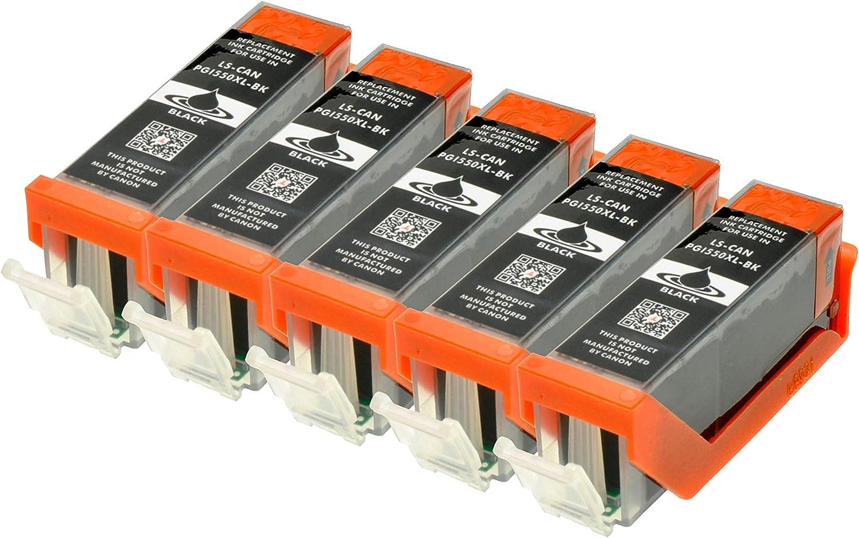 5 Druckerpatronen Kompatibel Für Canon Pgi 550bk Xl Ip 7250 8750 Ix 6850 Mg 5450 5550 6350 6450 7150 Mx 725 925 Bürobedarf Schreibwaren