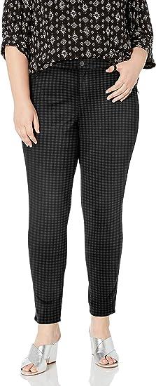NEW Gloria Vanderbilt Avery Slim Ponte Pants Black Pull On Petites 6