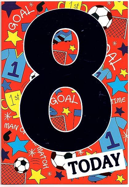 Tarjeta de cumpleaños para ocho (8) años niño viejo - libre ...