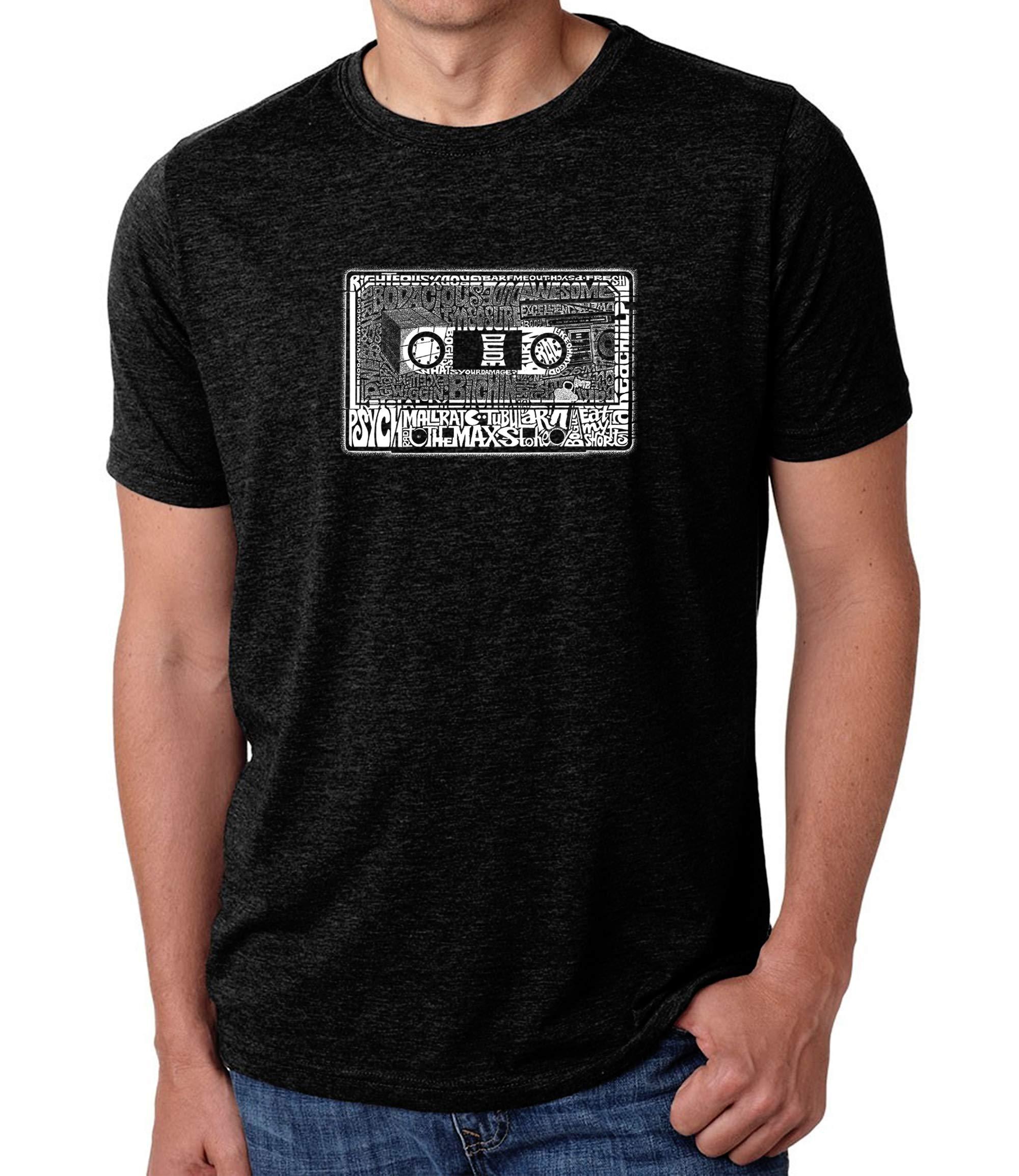 LA Pop Art Men's Premium Blend Word Art T-Shirt - The 80's