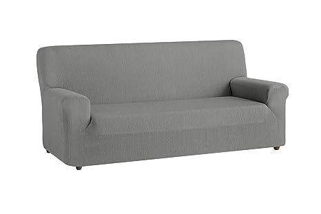 textil-home Funda de Sofá Elástica TEIDE, 2 plazas - Desde 130 a 180 cm. Color Gris