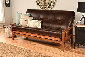 Kodiak Furniture Monterey Futon Set, No Drawers, with Barbados Base and Oregon Trail Java Mattress