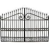 Cancello in ferro pieno L348xPR4xH250 cm