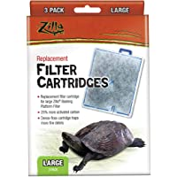 Zilla 100109831 Reptile Terrarium Filter Replacement Cartridges, Large, 3-Pack
