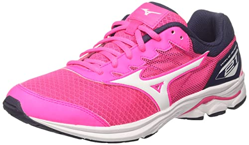 1a5d7b940f5d4 Mizuno Kids' Wave Rider 21 Jnr Running Shoes: Amazon.co.uk: Shoes & Bags