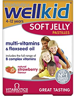 Wellkid Soft Jelly Strawberry Pastilles - Pack of 30
