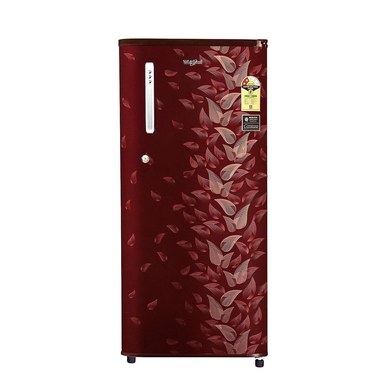 Whirlpool 190 L 2 Star Direct-Cool Single Door Refrigerator (WDE 205 CLS PLUS 2S, Wine Fiesta, Toughened Glass Shelves)