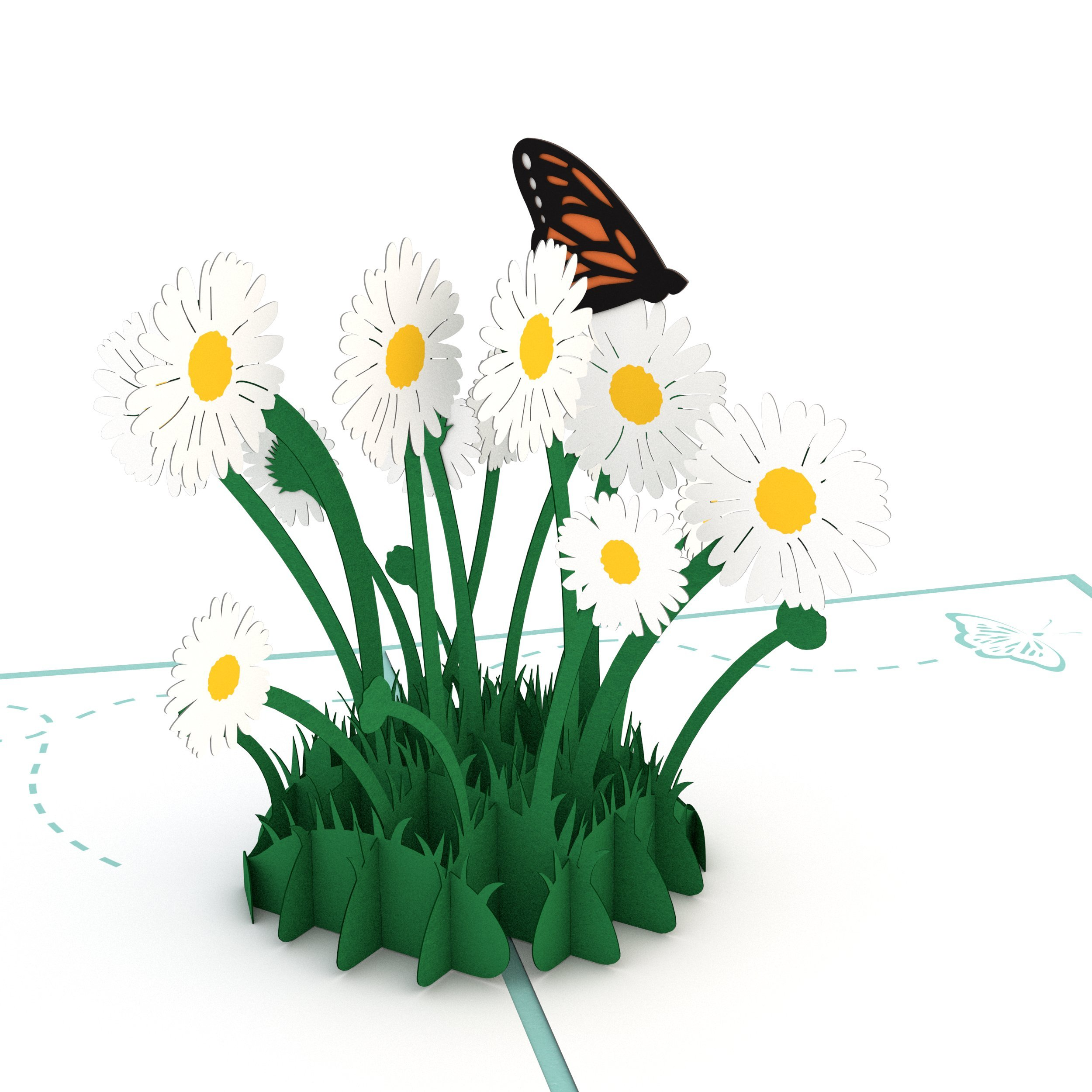 Amazon lovepop daisy patch pop up card 3d card mothers day amazon lovepop daisy patch pop up card 3d card mothers day card springtime card birthday card office products izmirmasajfo
