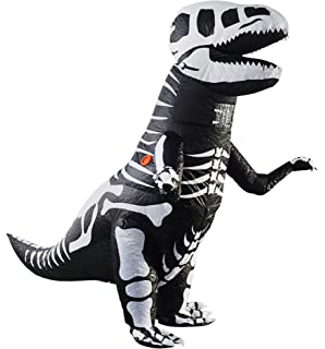 Amazon.com: T-Rex Giant Skeleton Dinosaur Inflatable Costume ...