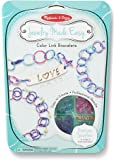 Melissa & Doug Jewelry Made Easy Color Link Bracelet-Making Set (Makes 3 Bracelets)