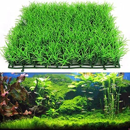 Attirant Holrea Artificial Fake Water Aquatic Green Grass Plant Lawn Aquarium  Landscape For Home Office Saltwater Freshwater