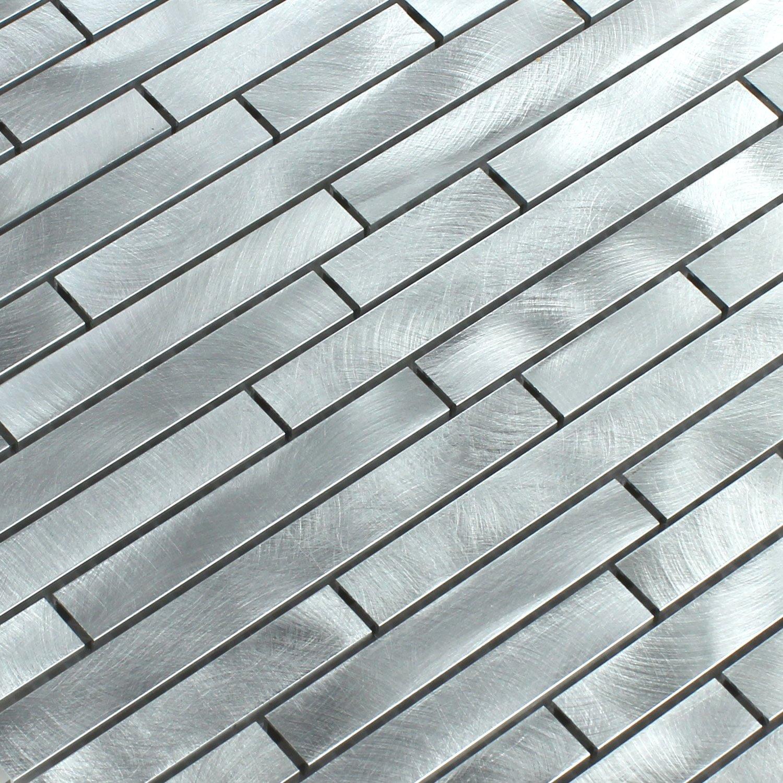 Aluminium Alu Metall Mosaik Fliesen Silber