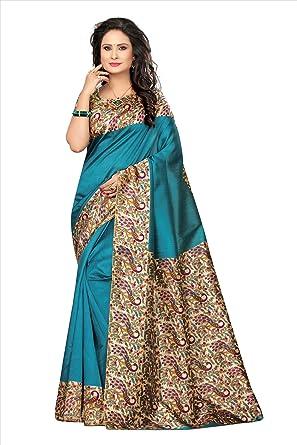 bfc46829856db5 Mrinalika Fashion Women s Art Silk Saree With Blouse Piece(sarees new  collection 2018 SRJK017 Green