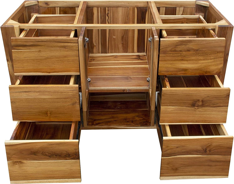 EcoDecors ST-BT-48-1 Significado Bathroom Vanity 48x21.25x32 Natural Teak