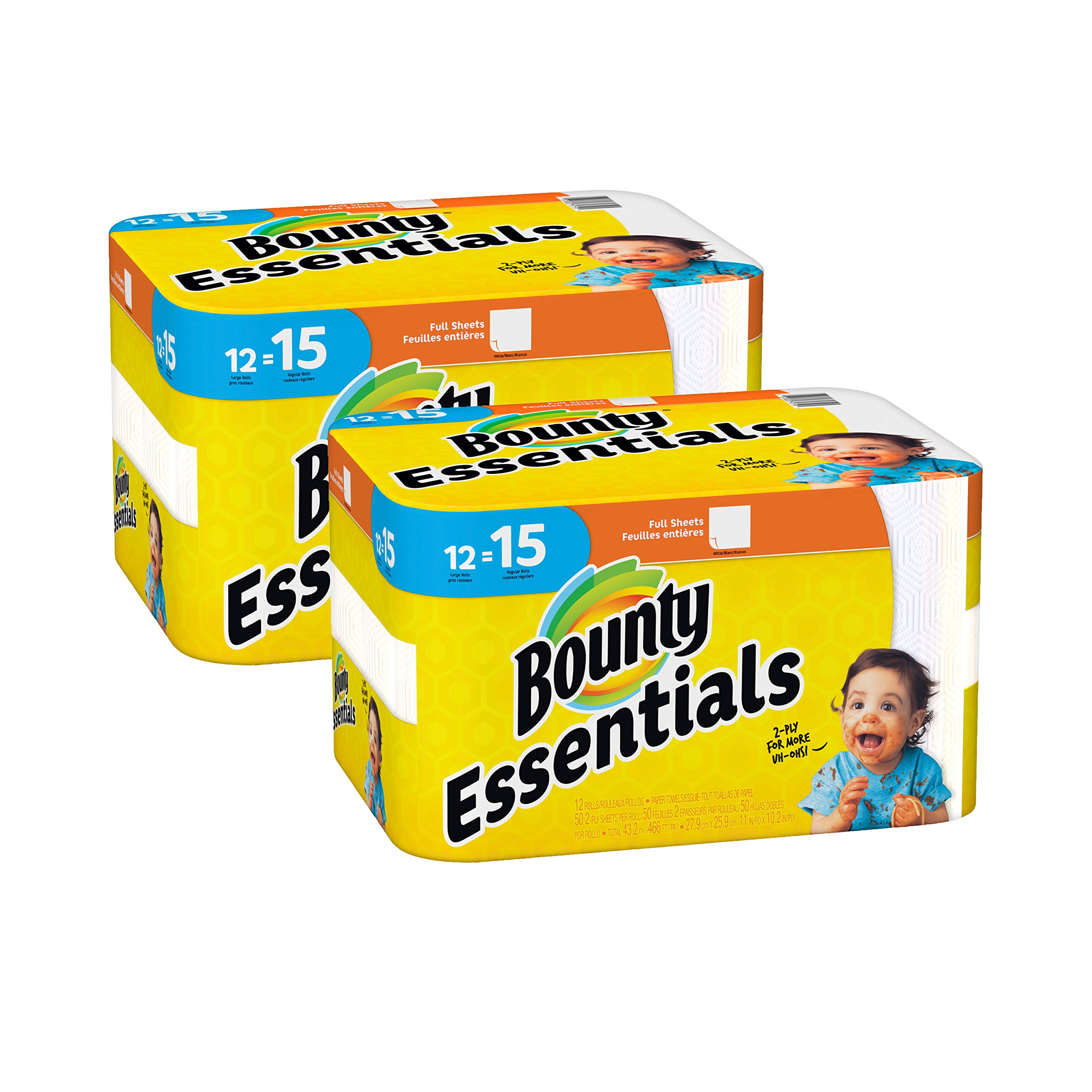 Bounty Essentials Full Sheet Paper Towels, 24 Large Rolls