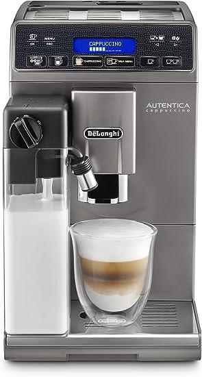 Delonghi ETAM 29.666.T Autentica Cappuccino - Cafetera automática, titanio/plata, mecanismo cónico, depósito de agua de 1,3 litros: Amazon.es: Bricolaje y herramientas