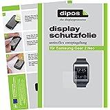 dipos Samsung Gear 2 Neo Schutzfolie (2 Stück) - Antireflex Premium Folie matt
