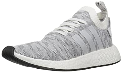 adidas Originals Men's NMD_R2 PK Sneaker, White/White/Black, ...
