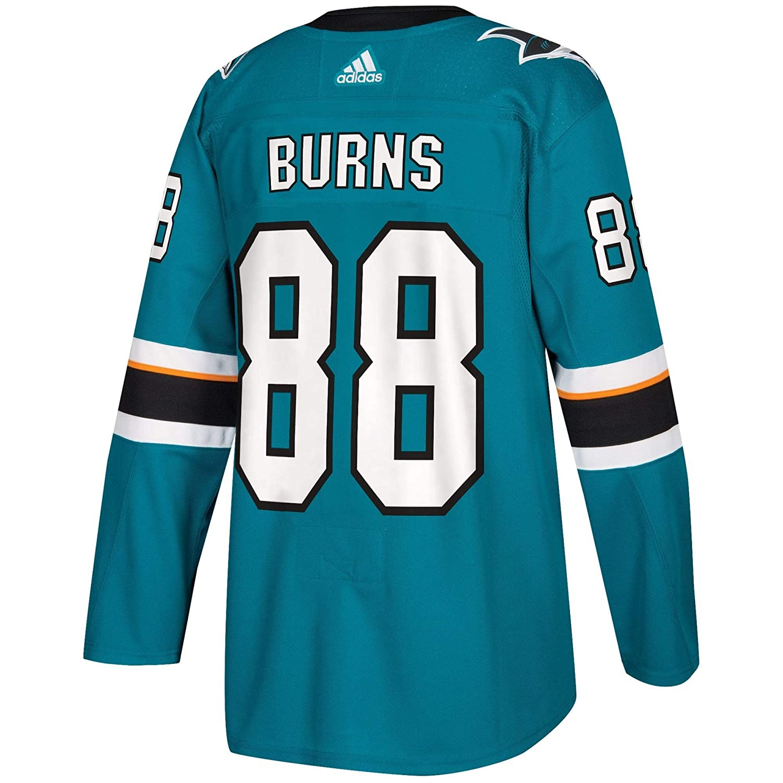 c4627e76c Amazon.com   adidas San Jose Sharks Brent Burns Authentic Pro Jersey Teal    Sports   Outdoors