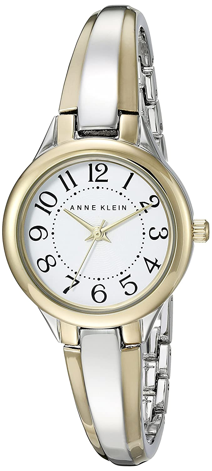 3dcedd9bc87 Amazon.com  Anne Klein Women s AK 2453WTTT Easy To Read Dial Two-Tone Bangle  Watch  Anne Klein  Watches