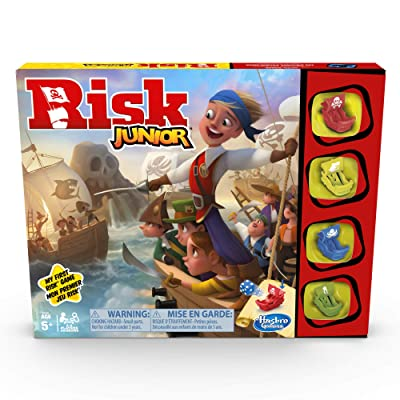 Hasbro Gaming Risk Junior Game: Strategy Board Game; A Kid's Intro to The Classic Risk Game for Ages 5 and Up; Pirate Themed Game: Toys & Games