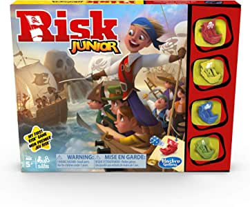 Risk Junior Game: Strategy Board Game; A Kid's Intro to the Classic Risk Game For Ages 5 and Up; Pirate Themed Game
