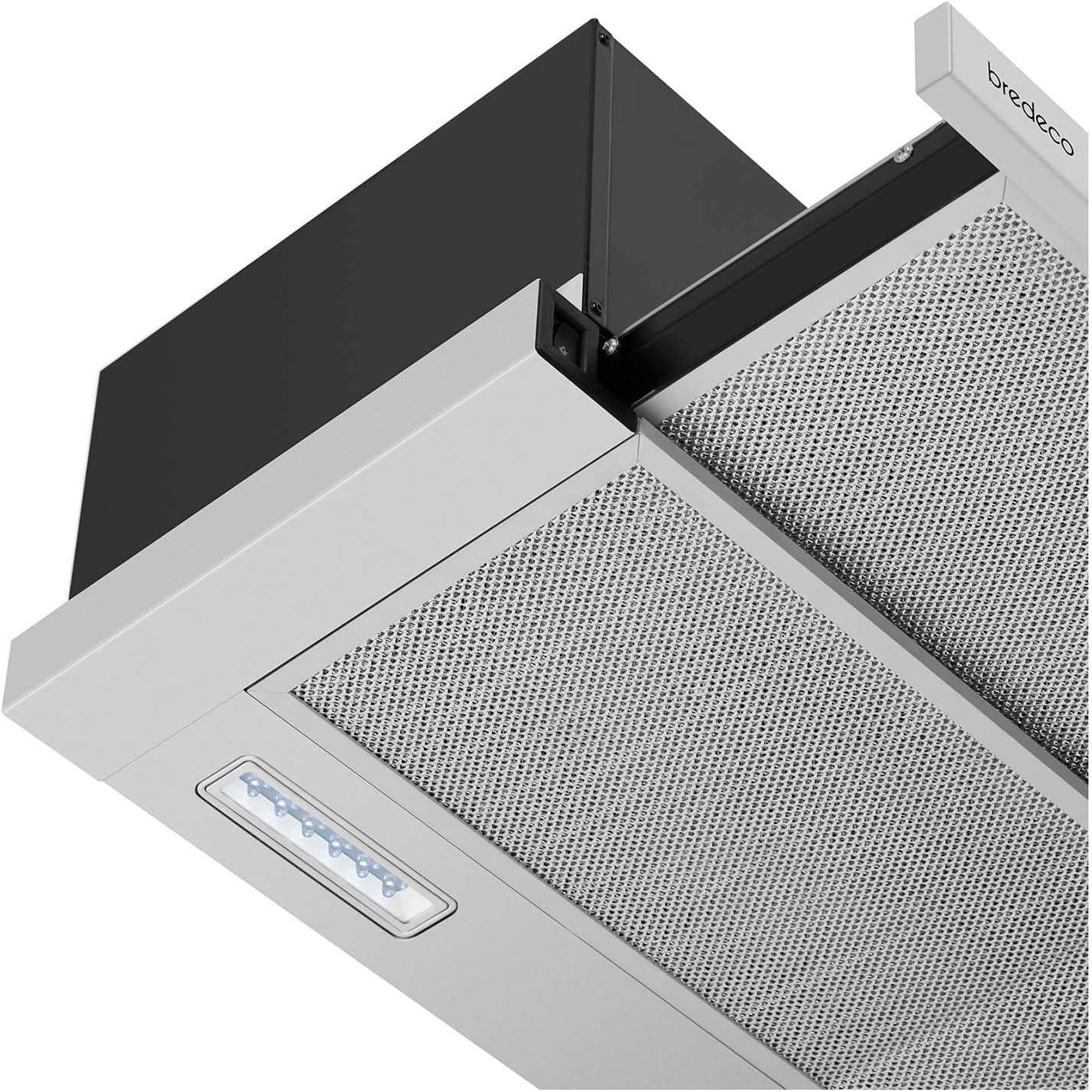 bredeco Campana De Pared Para Cocina BCCH-65C-60S (Acero inoxidable, LED 2 x 2 W, Nivel de ruido de 63 dB, 301,6 m³/h, 60 cm): Amazon.es: Grandes electrodomésticos