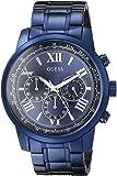 ゲス GUESS Men's U0379G5 Iconic Blue Chronograph Watch [並行輸入品]